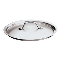 """Paderno World Cuisine - 9.5 Inch Stainless Steel Frying Pan Lid - This 9.5 inch diameter Paderno World Cuisine stainless steel lid with stainless steel handle is part of the stainless steel series. It is induction compatible. This lid's soft dome shape is designed to condense vapors and flavors. Gleaming, easy-care cookware, this collection is a brilliant demonstration of stainless steel in all its versatility. It responds to the requirements of the most demanding chefs and satisfies the strictest standards for hygiene. Ready to shine with outstanding ability, this cookware preserves all the natural flavor and quality of each ingredient.; Stainless Steel Handle; Dishwasher safe; Commercial quality; Designed to condense vapors and flavors; Induction ready; Weight: 0.5 lb; Made in Italy; Dimensions: 3.0""""H x 7.88""""L x 7.88""""W"""