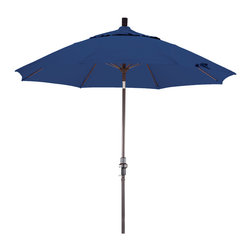 California Umbrella - 9 Foot Olefin Fabric Crank Lift Tilting Aluminum Patio Umbrella, Bronze Pole - California Umbrella, Inc. has been producing high quality patio umbrellas and frames for over 50-years. The California Umbrella trademark is immediately recognized for its standard in engineering and innovation among all brands in the United States. As a leader in the industry, they strive to provide you with products and service that will satisfy even the most demanding consumers.