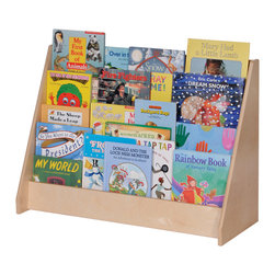 Steffywood - Steffy Wood Products Home Kids Toddler Storage Four Shelf Book Display - Four shelf book display has book pockets that are four inches deep.  Sturdy glue and dowel construction.  Tough clear UV finish.