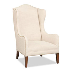 Hooker Furniture - Accent Chair - Pale yet eye catching, you'll have a hard time deciding where to put this accent chair. Sleek and curvy, it's upholstered in fine Linosa linen and will look great anywhere in your home.