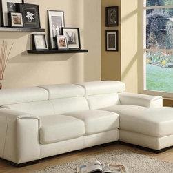 Unique Italian Top Grain Leather Sectional Sofa - Features: