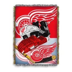 Northwest Company, The - NHL Detroit Red Wings Tapestry Throw - Commemorate the love of the game with this NHL Tapestry Throw. Finely woven to feature your favorite hockey team's logo in their official colors, use it as a room accent, bed covering, throw blanket, or hang on a wall as a testament to your team loyalty.
