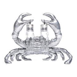 Arthur Court Designs - Crab Hanging Salt & Pepper Set - Wash by hand with mild dish soap and dry immediately. Product not intended as cookware. Can withstand 350 F. Refrigerator and freezer safe.