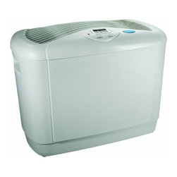 ESSICK AIR PRODUCTS - CONSOLE HUMIDIFIER 5 GAL/DAY - 4 speed motor. Humidifies 1100 square feet. Digital hygrometer, easy pour-in fill method, and dual wicks. Optional AirCare filter. 5 gallons per day output. Automatic humidistat. Wick used 1040, (SKU 111.9650), air filter 1050 optional.             Color=White  This item cannot be shipped to APO/FPO addresses.  Please accept our apologies