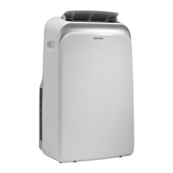 "Danby - 14,000 BTU Window Air Conditioner - 14000 BTU air conditioner cools approximately 700 sq.ft., 71 pint capacity per 24 hours with direct drain feature, Single hose design, Environmentally friendly R410A refrigerant, Electronic controls with integrated remote and LED display, Automatic on/off: Have the unit start or stop to meet your schedule, Variable electronic temperature control 17C - 35C (62F - 95F), Built-in handles and castors allow you to move the unit from room to room easily, unit dimensions 18 6/16"" W x 15 10/16"" D x 30 2/16"" H"