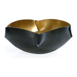 Rojo16 - Four Edge Bowl, Medium - Rojo16 Brunei Four Edge Bowl is a reflection of every piece we make, delivering both casual elegance and timeless style. Perfect for a striking home decoration/food application. Made to last from brass. Available in three sizes.