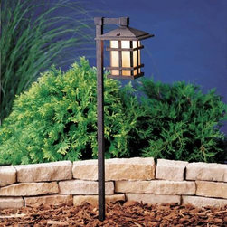 """Kichler - Kichler 15232AGZ Cross Creek Path & Spread Light 15232AGZ - Aged Bronze finishBulb Included: No Bulb Type: A19 Collection: Cross Creek Finish: Aged Bronze Height: 27"""" Length: 7.5"""" Number of Lights: 1 Socket 1 Base: Medium Socket 1 Max Wattage: 25 Style: Arts and Crafts Mission Type: Path Light Wattage: 25W Width: 6"""""""