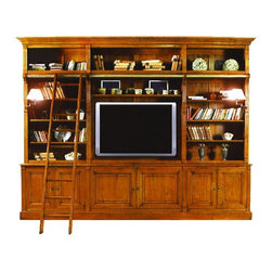English Traditions - Apothecary Library - The tried and true techniques of the master carpenter are too expensive and time consuming for the big factories which mass produce furniture. The Provence Collection furniture is built in a small factory, in a small town a two hour drive outside of Paris, France. European grown oak, cherry and walnut boards are kiln dried, cut, planed, hand carved, pegged and dovetailed into the finest country French furniture.
