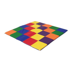 ECR4KIDS - ECR4KIDS Patchwork Toddler Mat - Primary Multicolor - ELR-031 - Shop for Gyms and Play Mats from Hayneedle.com! Tender hands and little feet can crawl comfortably on the colorful ECR4KIDS Patchwork Toddler Mat - Primary. Exceptionally soft the mat is great for play and rest time. 58 square inches provide an ample amount of room to move about and crawl. Perfect for daycare or in home use. Add the primary blocks for the perfect play time set! It's phthalate-free too. About Early Childhood ResourcesEarly Childhood Resources is a wholesale manufacturer of early childhood and educational products. It is committed to developing and distributing only the highest-quality products ensuring that these products represent the maximum value in the marketplace. Combining its responsibility to the community and its desire to be environmentally conscious Early Childhood Resources has eliminated almost all of its cardboard waste by implementing commercial Cardboard Shredding equipment in its facilities. You can be assured of maximum value with Early Childhood Resources.