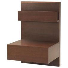 MALM Nightstand - medium brown - IKEA