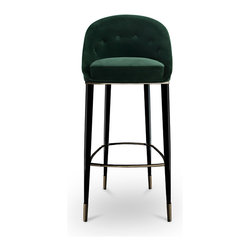 MALAY   Modern bar chair - MALAY Modern Bar Chair has a soft velvet touch to change the way human live. For more information info@brabbu.com