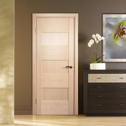 "Modern Interior Doors - ""Dominika"" - modern solid wood interior door with, finished in bleached oak."