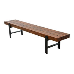 Sierra Living Concepts - Sierra Iron Wood Industrial Dining Bench - All the fabulous style and quality of a Sierra Dining bench! Coordinates with our line of rustic contemporary dining room tables.