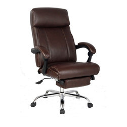 VIVA OFFICE® - VIVA OFFICE® High-back Brown Bonded Leather Swivel Recliner Napping Chair - VIVA Office, the professional office furniture supplier, now provides a great variety of excellent office chairs including ergonomic desk chair, task chair, executive & managerial chair, and more. With the combination of global intelligence, high quality material, reliable performance, and world class ergonomic design, VIVA keeps bringing best sitting experience to customers all over the world