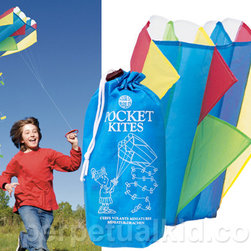 Pocket Kite by Perpetual Kid - You can lounge and rest while the kids unpack their very own pocket kites. They're affordable enough to get one for everyone!