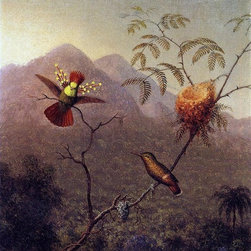 "Art MegaMart - Martin Johnson Heade Tufted Coquette - 20"" x 25"" Premium Canvas Print - 20"" x 25"" Martin Johnson Heade Tufted Coquette premium canvas print reproduced to meet museum quality standards. Our museum quality canvas prints are produced using high-precision print technology for a more accurate reproduction printed on high quality canvas with fade-resistant, archival inks. Our progressive business model allows us to offer works of art to you at the best wholesale pricing, significantly less than art gallery prices, affordable to all. We present a comprehensive collection of exceptional canvas art reproductions by Martin Johnson Heade."