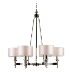 ELK Lighting 10123/6 Pembroke Polished Nickel 6 Light Chandelier
