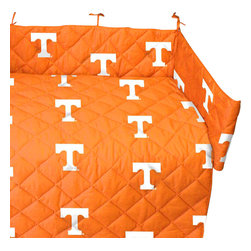 College Covers - NCAA Tennessee Volunteers Vols Crib Bedding Set - Features: