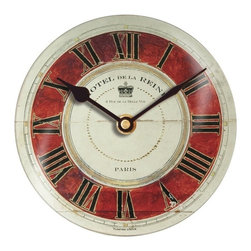 Floating Circus - Hotel de la Reine Clock - Stunning Wall Clock with a European French theme makes this small clock