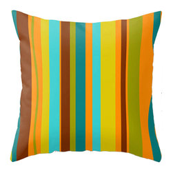 Crash Pad Designs - Mid Century Modern Throw Pillow, Modern Accent Pillow - A fun pillow can change an entire room. Style your room with this mod & playful pillow. On a sofa, a chair, or bed it's sure to make you smile. Double sided print pillow, made from 100% spun polyester poplin fabric w/ a hidden zipper closure & a polyester fill insert.Original Crash Pad Designs fabric.