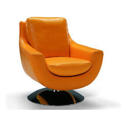 Simboli Swivel Armchair By Incanto - I395 Contemporary Italian Leather Armchair is characterized by the ultimate in Italian design. Manufactured in Italy by Incanto,I395 Armchair is a universal seating element that can be positioned in complete freedom and can fit perfectly into any home,any style and any type of architecture.