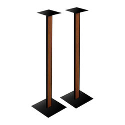 Bello - Bello 30 Inch Speaker Stands with Cherry Wood Inlay - Bello - Speaker Stands - SP211 - Made of black powder-coated scratch resistant steel these versatile speaker stands feature a Cherry finish wood inlaid front. Includes CMS Cable Management System clips in the rear of the stand to manage cables and wires. Shipped in a pair.