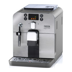 Gaggia - Gaggia Brera in Silver - Further proof that good things come in small packages, the Gaggia Brera is a fully equipped super-automatic espresso machine with a compact footprint that will leave you with plenty of counter space.