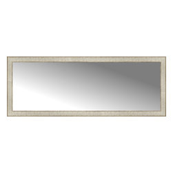 """Posters 2 Prints, LLC - 56"""" x 21"""" Libretto Antique Silver Custom Framed Mirror - 56"""" x 21"""" Custom Framed Mirror made by Posters 2 Prints. Standard glass with unrivaled selection of crafted mirror frames.  Protected with category II safety backing to keep glass fragments together should the mirror be accidentally broken.  Safe arrival guaranteed.  Made in the United States of America"""