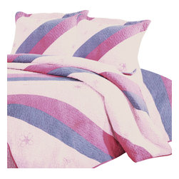Blancho Bedding - Dulcea 100% 3PC Vermicelli-Quilted Embroidered Patchwork Quilt Set Full/Queen - Set includes a quilt and two quilted shams (one in twin set). Shell and fill are 100% cotton. For convenience, all bedding components are machine washable on cold in the gentle cycle and can be dried on low heat and will last you years. Intricate vermicelli quilting provides a rich surface texture. This vermicelli-quilted quilt set will refresh your bedroom decor instantly, create a cozy and inviting atmosphere and is sure to transform the look of your bedroom or guest room.