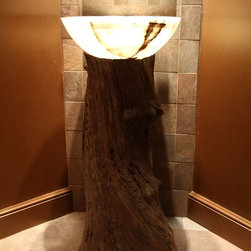 Reclaimed Wood Pedestal Sink - Vanity by Architectural Justice