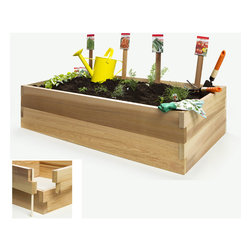 All Things Cedar - Cedar Vegetable Boxes - 4t. Double Raised Garden Bed - Designed to answer the growing demand for urban gardening systems, our expandable raised garden box kits set up anywhere in just minutes. Single boxes are great for herbs and low rooting vegetables... add a second garden box for deeper rooting plants. Item is made to order.