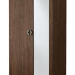 ENGAN Wardrobe with 2 doors - Wardrobe with 2 doors, walnut effect