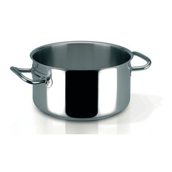 Frieling - Profiserie Braisier, 24.8 qt. - Commercial grade thick aluminum core sandwiched between 18/10 stainless steel