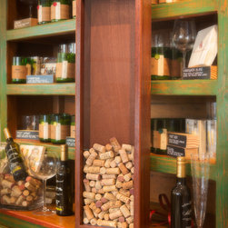 Home Showroom - Brazilian Cherry 9 x 31 Wine Cork Display frame.  Holds up to 250 wine corks.  Made of brilliant Brazilian Cherry Wood and with Lexan shatterproof glass.  Comes in 4 woods.  Clear Pine, White Oak, American Cherry and Brazilian Cherry