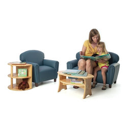 Brand New World - Brand New World Enviro-Child Upholstered Preschool Living Room Set - BRAN068 - Shop for Childrens Chairs from Hayneedle.com! Embellishing your classroom decor has never been easier than it is with the Brand New World Enviro-Child Upholstered Preschool Living Room Set. This four-piece set comes with a sofa chair end table and coffee table; all in sizes perfect for preschoolers and easy to clean. Both tables are constructed of durable hardwood while the chair and sofa are covered with PVC-free polyurethane upholstery that features an antimicrobial finish to inhibit the growth of bacteria and viruses. The char and sofa are built with sturdy hardwood frames and dense foam and they include 3.5-inch legs to make the seat heights perfect for children age 6 and up. This set comes in your choice of kid-friendly color. Some assembly required.About Brand New WorldAn affiliate of U.S. Worldwide Inc. Brand New World believes that through the wonderful pleasure of play young children s lifelong learning begins. Based on these beliefs and with the guidance of early childhood experts Brand New World develops products that meet the needs of early childhood children teachers and classrooms. Along with meeting safety guidelines set by the CPSC ASTM CA117 and CPSIA Brand New World s products consist of top-quality materials that are of the highest quality yet are fun and affordable.