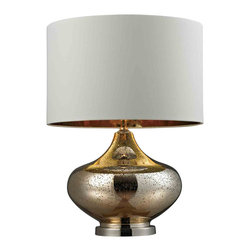 Dimond Lighting - Dimond Lighting HGTV269 HGTV Home Gold Mercury Glass Table Lamp - Dimond Lighting HGTV269 HGTV Home Gold Mercury Glass Table Lamp