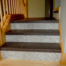 Eclectic Staircase by Morris Builders, Inc