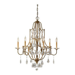 Murray Feiss Lighting - Murray Feiss Lighting-F2478/6OBZ-Valentina - Six Light Chandelier - Feiss features a broad selection in all lighting product categories. An extensive variety of fixtures including grand chandeliers, functional pendants, versatile kitchen fixtures, decorative wall lights, flush and semi-flush mounts, and vanity lights with Co-Ordinating decorative hardware are featured in our website. Our portable line includes a wide range of table, floor, and swing arm lamps, along with torchieres.