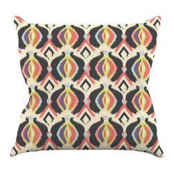 """Kess InHouse - Amanda Lane """"Bohemian iKat"""" Throw Pillow (16"""" x 16"""") - Rest among the art you love. Transform your hang out room into a hip gallery, that's also comfortable. With this pillow you can create an environment that reflects your unique style. It's amazing what a throw pillow can do to complete a room. (Kess InHouse is not responsible for pillow fighting that may occur as the result of creative stimulation)."""