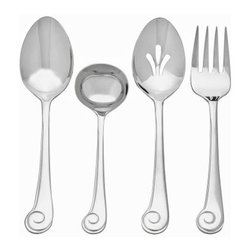 Ginkgo Sanibel Surf Stainless Mirror Finish Flatware Hostess Set - Set of 4 - About Ginkgo International LtdGinkgo International Ltd. was founded in 1977 by Wes and Janet Helmick. Their goal was to bring to the market original quality flatware designs at the best possible price. Now a second generation family business Ginkgo continues to offer consumers the highest quality flatware and cutlery products at the best possible value.