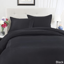Roxbury Park - Roxbury Park Pinstripe Baratto 3-piece Duvet Cover Set (Euro Shams Sold Separate - Three embroidered baratto pin stripes adorn both the duvet cover and included matching shams of this elegant bedding set. The machine washable set has a soft 300 thread count cotton sateen construction.