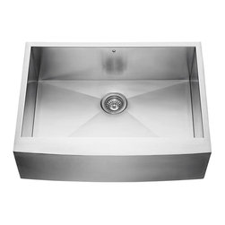 Vigo - Vigo 30-inch Farmhouse Stainless Steel 16 Gauge Single Bowl Kitchen Sink - Vigo delivers top quality and unique design in this 30-inch farmhouse, stainless steel, kitchen sink.