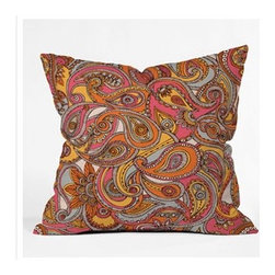 "DENY Designs - Valentina Ramos Spring Paisley Throw Pillow - Wanna transform a serious room into a fun, inviting space? Looking to complete a room full of solids with a unique print? Need to add a pop of color to your dull, lackluster space? Accomplish all of the above with one simple, yet powerful home accessory we like to call the DENY Throw Pillow! Features: -Valentina Ramos collection. -Color: Print. -Material: Woven polyester. -Sealed closure. -Spot treatment with mild detergent. -Made in the USA. -Closure: Concealed zipper with bun insert. -Small dimensions: 16"" H x 16"" W x 4"" D. -Medium dimensions: 18"" H x 18"" W x 5"" D. -Large dimensions: 20"" H x 20"" W x 6"" D. -Product weight: 3 lbs."