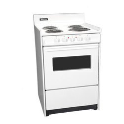 "Brown - 24"" Electric Range with Oven Window and Light - Features:"
