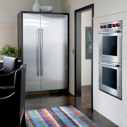 Sub-Zero Refrigerators - From Sub-Zero and Wolf:  This photo features Sub-Zero's 30-inch wide refrigerator column (Model IC-30R) and 18-inch wide freezer column (Model IC-18F).  Also featured is Wolf's 30-inch M series double oven (Model SO30PMSPH)