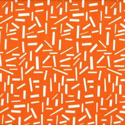 Ruffled Shams Pair Sprinkles Orange