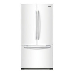"""Samsung - RF197ACWP 33"""" 17.8 cu. ft. Counter-Depth French Door Refrigerator with 3 Adjusta - The Samsung Appliance RF197AC 178 Cu Ft French door refrigerator in stainless steel keeps your food fresher longer with Twin Cooling technology Ice maker produces 4 lbs of ice per day Enjoy tremendous flexibility in food storage with large door bins ..."""