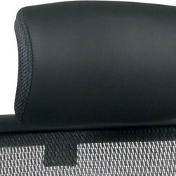 "Office Star Products - Optional Leather Headrest - Fits 818 Series Only - Optional Leather Headrest. Ratchet Height Adjustment. Fits 818 Series Only.; Color: Black; Materials: Leather/Nylon; Leather Headrest; Ratchet height Adjustment; Fits 818 Series Only; GREENGUARD Certified; Dimensions: Assembled: 12.5""W x 6.5""D x 12.25""H; Pad Size: 12.5W x 7H""W x ""D"