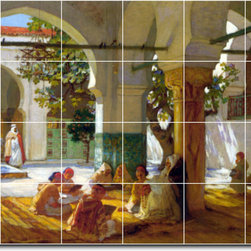 Picture-Tiles, LLC - Learning The Quran 1921 Tile Mural By Frederick Bridgman - * MURAL SIZE: 24x36 inch tile mural using (24) 6x6 ceramic tiles-satin finish.