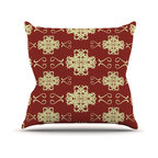 "Kess InHouse - Mydeas ""Asian Motif Damask"" Red Pattern Throw Pillow (26"" x 26"") - Rest among the art you love. Transform your hang out room into a hip gallery, that's also comfortable. With this pillow you can create an environment that reflects your unique style. It's amazing what a throw pillow can do to complete a room. (Kess InHouse is not responsible for pillow fighting that may occur as the result of creative stimulation)."